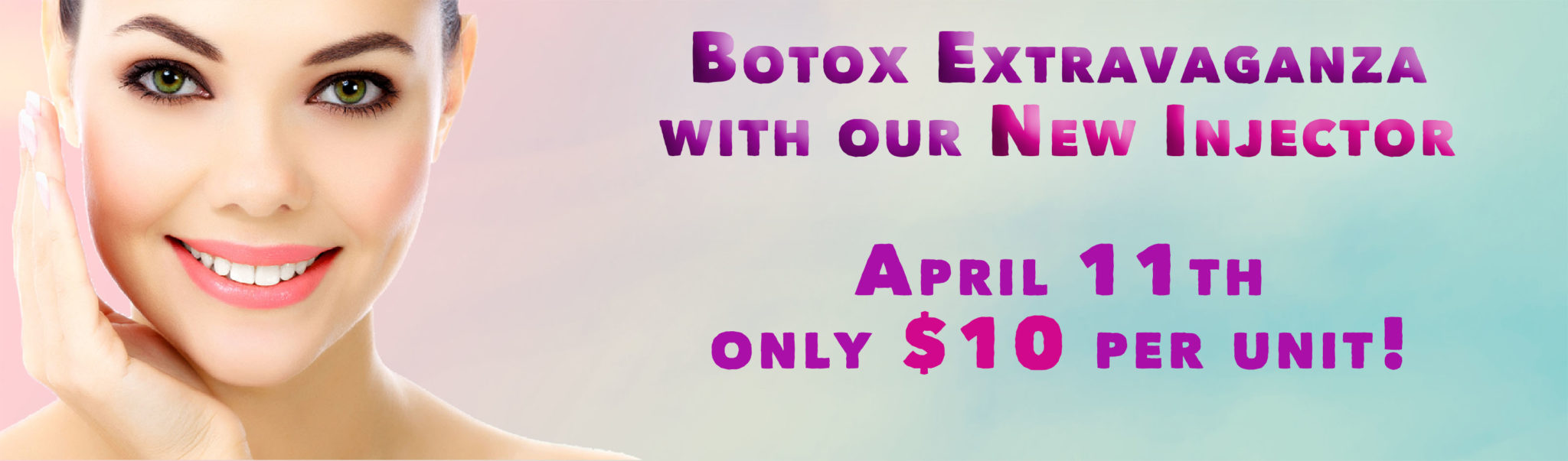 April Botox $10 per unit
