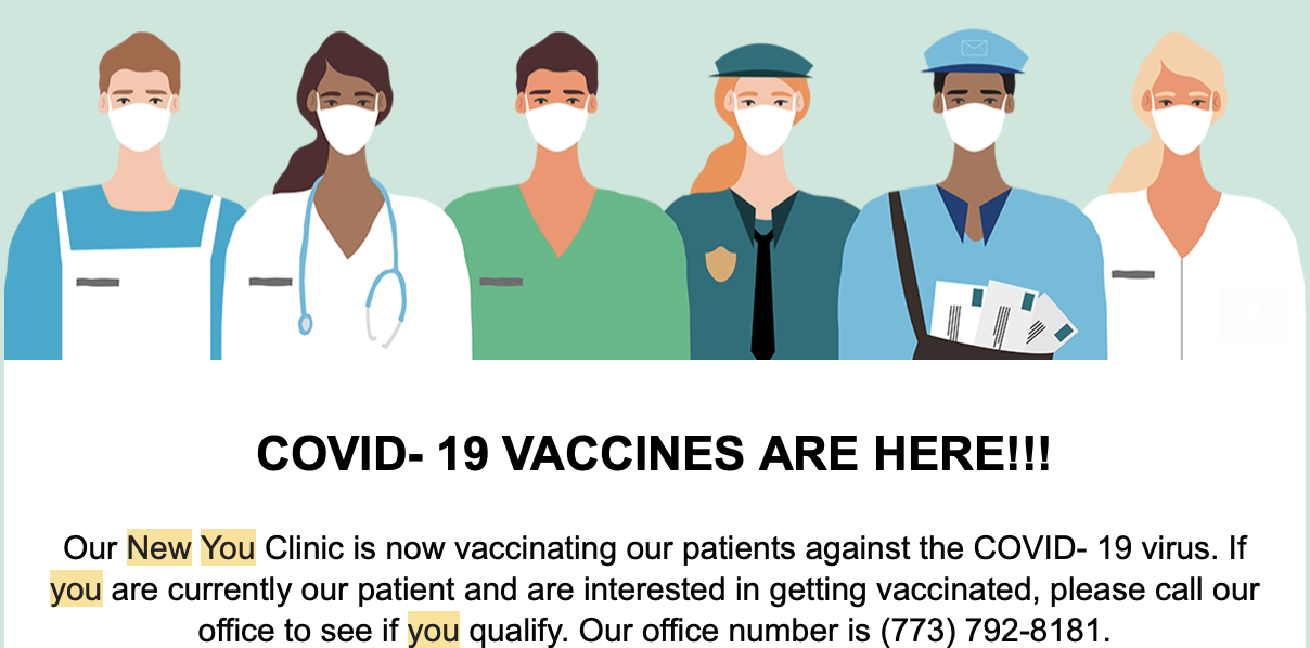 Moderna COVID Vaccine Available with New You Chicago
